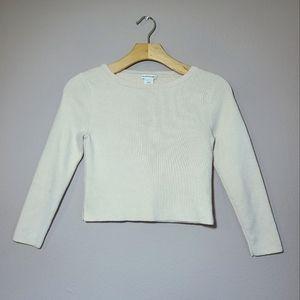 Club Monaco Beige Crop Top Sweater